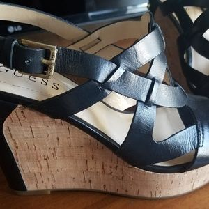 Guess Wedge Shoes Black Size 7